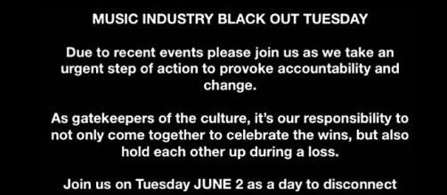"La Atlantic Records lancia l'iniziativa ""Blackout Tuesday"""