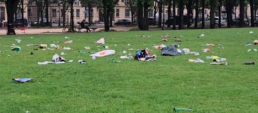Les photos des parcs de Paris pollués ont choqué la toile - capture d'écran photo Twitter
