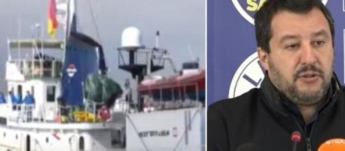 Matteo Salvini ha commentato il fatto che le Ong siano tornate attive.
