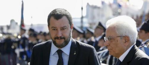 Matteo Salvini e Sergio Mattarella.