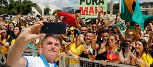 Protestos antidemocráticos com a presença de Jair Bolsonaro. (Arquivo Blasting News)