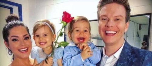 Thais Fersoza acompanhada do marido Michel Teló e os dois filhos do casal. (Reprodução/Instagram)