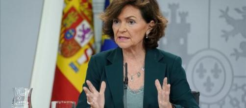 Carmen Calvo dice que el estado de Alarma podría volver a decretarse de ser muy graves los nuevos focos de Coronavirus