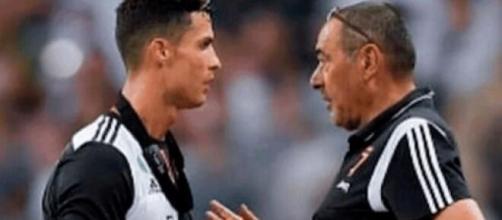 Cristiano Ronaldo e Maurizio Sarri.