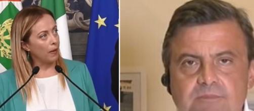 Giorgia Meloni e Carlo Calenda.