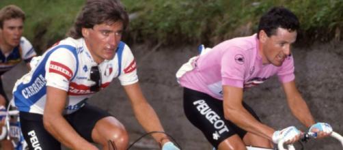 Roberto Visentini e Stephen Roche, grandi rivali al Giro d'Italia 1987