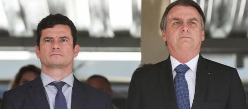 Sérgio Moro e Jair Bolsonaro. (Arquivo Blasting News)