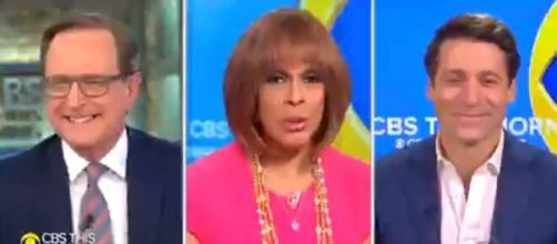 """The """"CBS This Morning"""" team was almost all together again for Monday morning news and inspiration.[Image source: CBSThisMorning-Twitter]"""