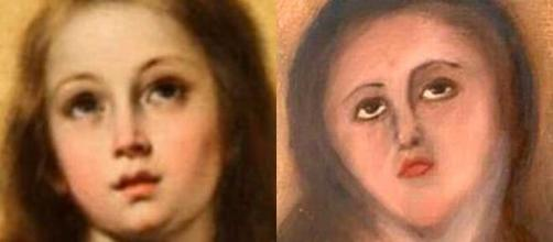 Le foto del prima e dopo dell'Immacolata Concezione