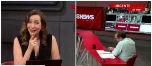 Maria Beltrão dá 'bronca' em comentarista da GloboNews: 'você vai me dar atenção?' (Arquivo Blasting News)