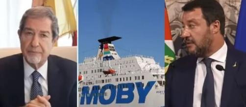 Nello Musumeci, la Moby Zaza e Matteo Salvini.