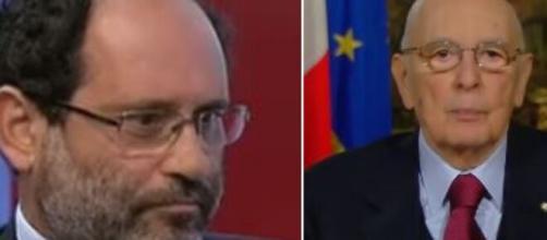 Antonio Ingroia e Giorgio Napolitnao.