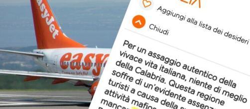 La descrizione di EasyJet sulla Calabria e le scuse del Ceo.