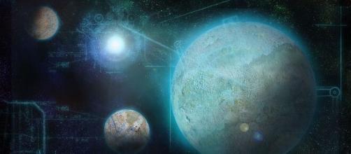 Aspetti astrali e trigono planetario favorevole in oroscopo.