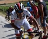 Fabio Aru impegnato allo scorso Tour de France.