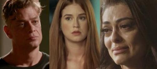 Arthur lembrará de Eliza na hora H, e deixará Carol triste em 'Totalmente Demais'. (Foto: Montagem/Globo).