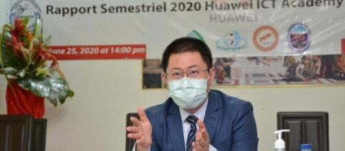 Du Yin, Directeur de Huawei Cameroun lors de la présentation du rapport ICT Academy 2020 (c) Huawei Cameroun