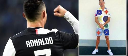 Il nuovo outfit di Cristiano Ronaldo che fa discutere i suoi followers.