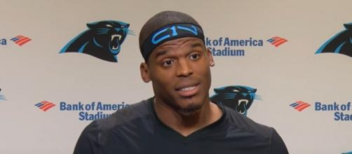 Newton won the Most Valuable Player (MVP) trophy in 2015 (Image Credit: Carolina Panthers/YouTube)