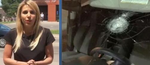 Une équipe de TF1 prise pour cible et arrêtée à Minneapolis - Capture d'écran photos Twitter