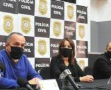 Coletiva do caso Rafael. (Leandro Vesoloski/Rádio Uirapuru)