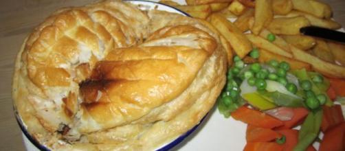 Pasticcio di carne e rognone, una prelibatezza della cucina britannica.