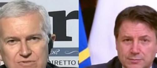 Maurizio Belpietro critica Giuseppe Conte.