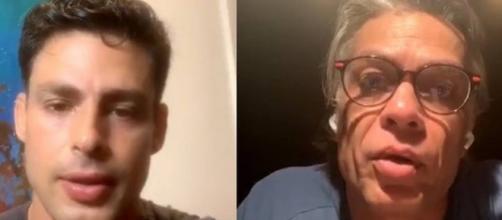 Em live com Cauã Reymond, Fábio Assunção abre o jogo sobre 'marca' de galã. (Reprodução/Instagram/@cauareymond)