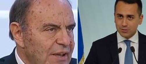Bruno Vespa e il Ministro degli Esteri Luigi Di Maio.