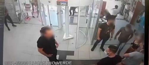 Suspeito foi preso tentando sacar 30 milhões em Lucas do Rio Verde. (Divulgação).