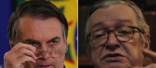 Bolsonaro dá aval para vaquinha de empresário para Olavo de Carvalho. (Arquivo Blasting News)