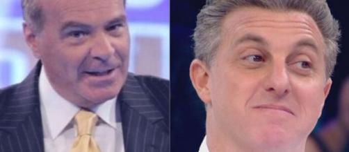Dono da Rede TV critica Luciano Huck por apoiar programa social. (Fotomontagem)
