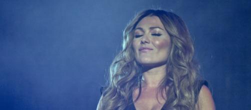 La cantante Amaia Montero durante un concierto