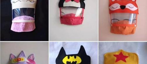 Professora do Distrito Federal cria máscaras infantis baseadas em personagens. (Arquivo Pessoal)