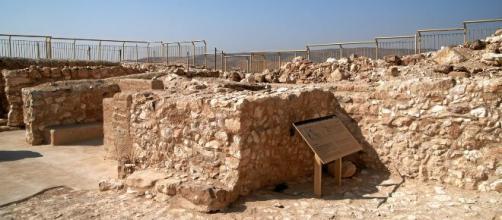 Templo de Tel Arad, donde se encontraron los altares con restos de cannabis