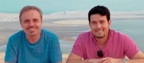 Thiago Salvático e Gugu Liberato teriam sido companheiros segundo o chef de cozinha. ( Arquivo Blasting News)
