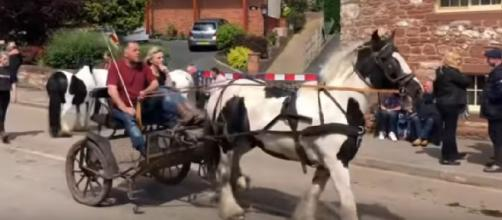 View of Appleby Horse Fair Sunday 2019, but no fair in 2020 due to coronavirus. [Image source/Cwitterick YouTube video]