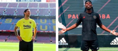 Ces joueurs qui seront en fin de contrat en 2021 - photo compte instragram messi et Pogba