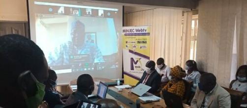 Session en visio-conférérence de la session de pré-validation et de sélection des projets par le Minjec (c) Minjec