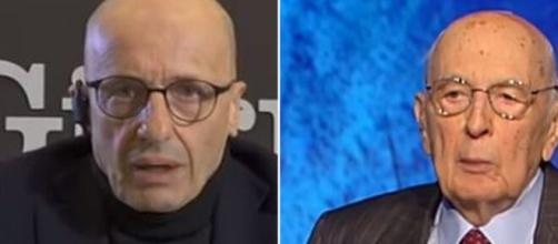 Alessandro Sallusti e Giorgio Napolitano.