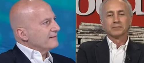 Augusto Minzolini e Marco Travaglio.