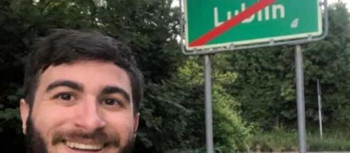Pietro Terranova torna dalla Polonia a Palermo in bici.