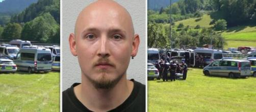 Ce fugitif est recherché par la police allemande près d'Oppenau, à 40 km seulement de la frontière française (source : capture Facebook)
