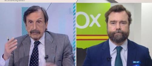 El portavoz de la extrema derecha manda al psiquiatra a un periodista en pleno directo en televisión.