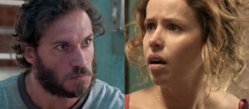 Gilda ficará furiosa com Dino em 'Totalmente Demais'. (Foto: Montagem/Globo).