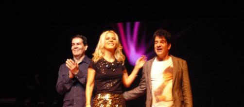 O trio Kid Abelha era formado por Paula Toller, Bruno Fortunato (esquerda) e George Israel. (Arquivo Blasting News)