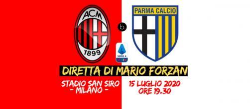 Serie A: Giornata 33, a San Siro il 15 Luglio 2020 ore 19.30 il Milan ospita Parma