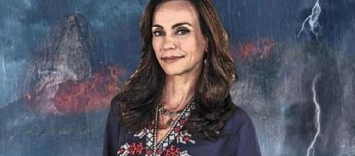 A atriz brilhou em 'Milagres de Jesus: O Filme'. (Reprodução/RecordTV)