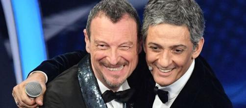 Amadeus e Fiorello, conduttori del Festival di Sanremo 2021.