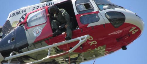 Policial morre após cair do Helicóptero Águia em treinamento. (Arquivo Blasting News)